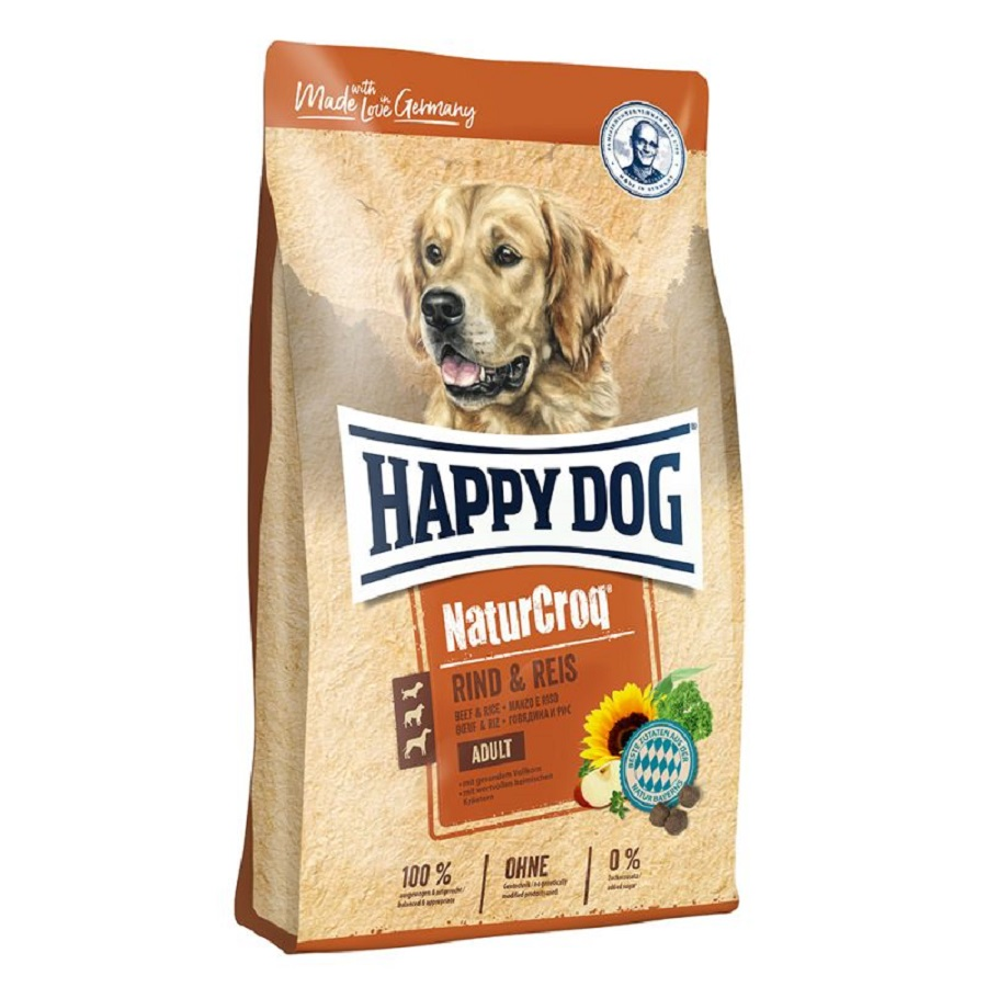 HAPPY DOG NATUR CROQ MANZO E RISO