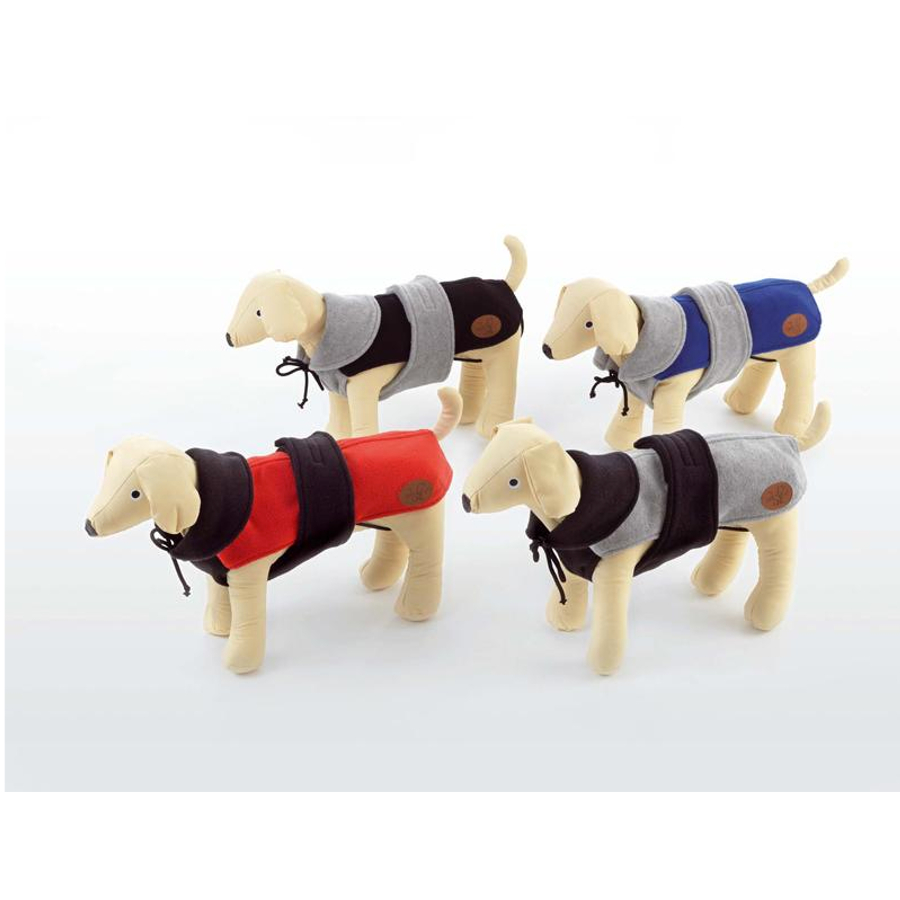 Dog Line cappotto in Pile ALESUND blu -grigio