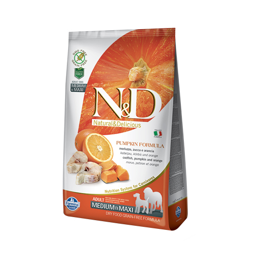 Farmina - N&D CANE PUMPKIN DEDICATI ALLA TG. MEDIUM/MAXI