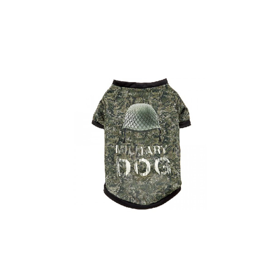 FERPLAST T-SHIRT PER CANI - S,  MILITARY
