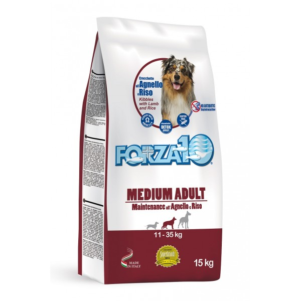 FORZA 10 MAINTENANCE CANE  Medium - Large Agnello e Riso