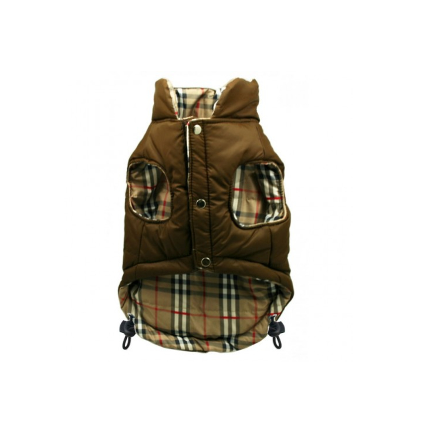 Hip Doggie Cappottino Brown Plaid Reversibile