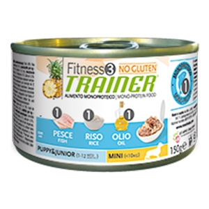 FITNESS TRAINER PUPPY & JUNIOR MINI 150 GR PESCE RISO E OLIO